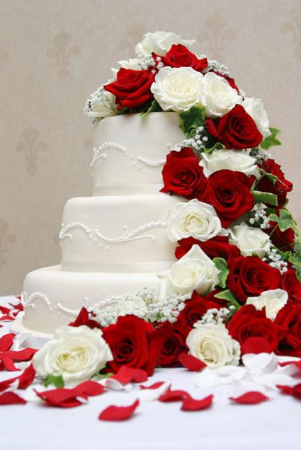 Rose Design On Cake : Wedding Cake Designs: Wedding Cake with Roses Decoration