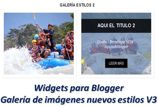 Widgets para Blogger – Galería de imágenes nuevos estilos V3