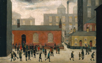L.S.Lowry - Comingout of school, 1927