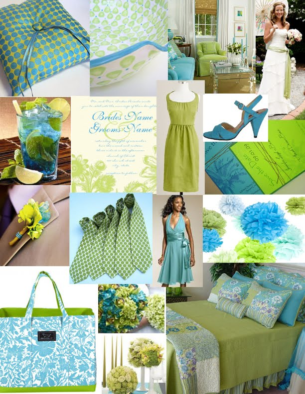 Wedding With Style A Lime Green And Turquoise Wedding
