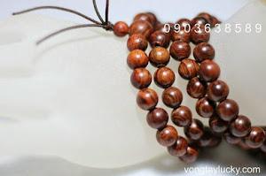 Tràng hạt gỗ sưa108 hạt 8li