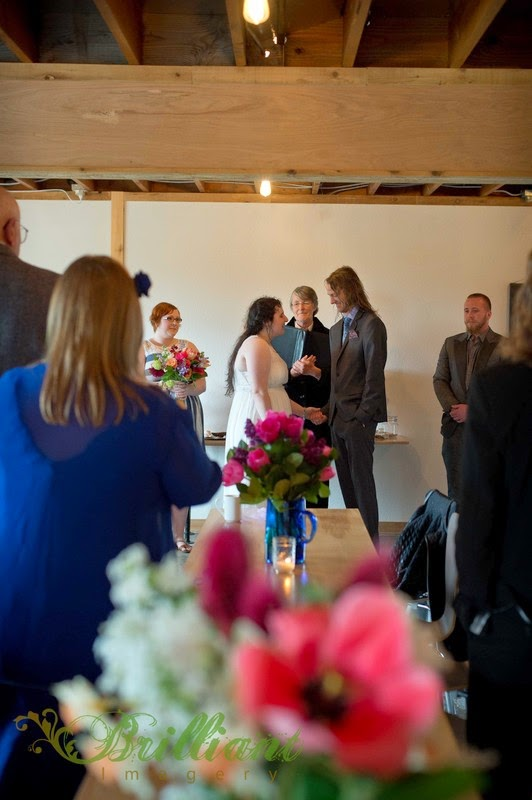 Nick & Alyssa wed at Adrift Inn - Patricia Stimac, Seattle Wedding Officiant