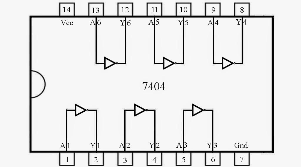 Control 7404  Not Gate Ic  Using Arduino Mega  U00ab Funny