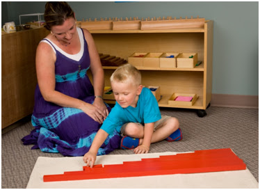 namc montessori ten things to remember when presenting montessori activities boy teacher red rods