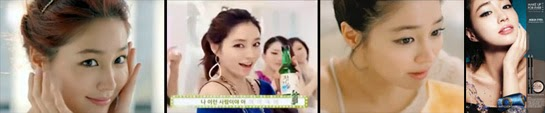 Lee Min Jung in beauty, soju and cream cheese CFs and cosmetic packaging