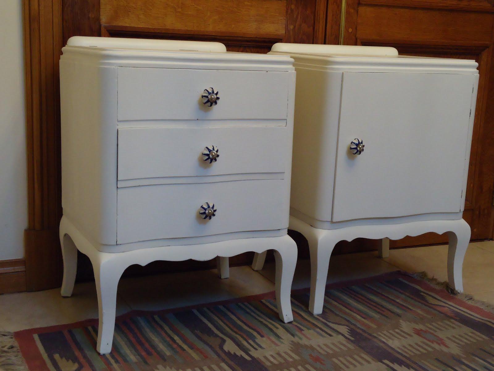 Vintouch muebles reciclados pintados a mano mesas de - Tiradores rusticos para muebles ...