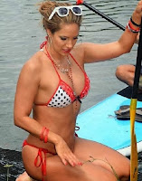 Jennifer Nicole Lee Paddleboard White Bikini Yoga Miami