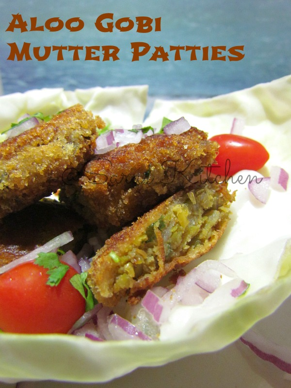 Gobi Mutter Cutlet / Cauliflower Potato Peas Patties/ Veg patties