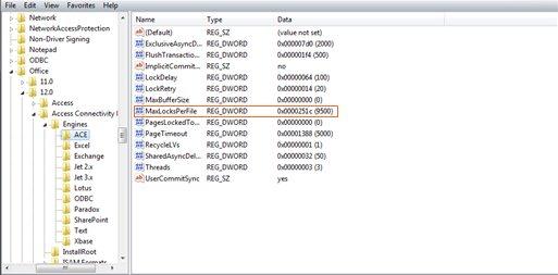 error message show in access