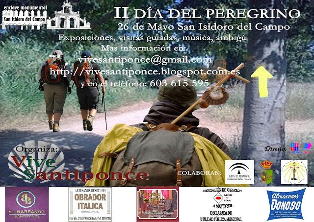 Cartel anunciador II día del peregrino en Santiponce