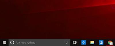 windows 10 cortana search bar
