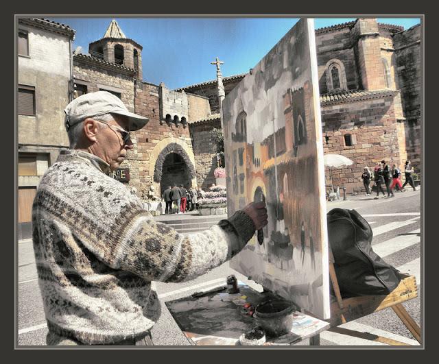 PRADES-PINTURA-TARRAGONA-MONUMENTS-PORTAL-FORTIFICAT-FOTOS-PINTOR-ERNEST DESCALS-