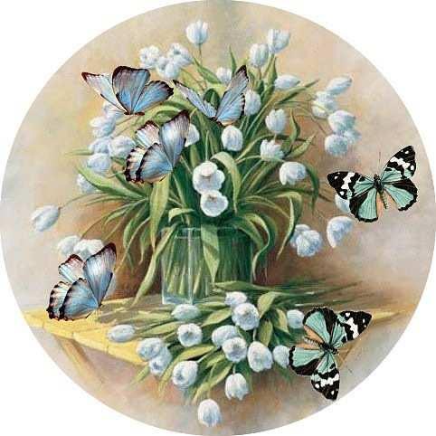 vintage spring background clip art