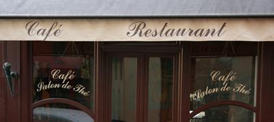 le de graphic arts sticker pour vitrine de caf 233 bar pub restaurant