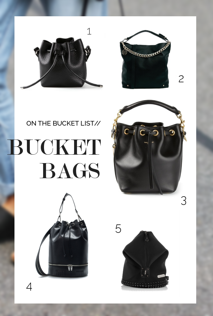 Bag crush: black bucket bag