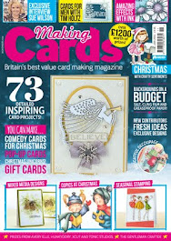 Proud to feature in the November issue of  Making Cards