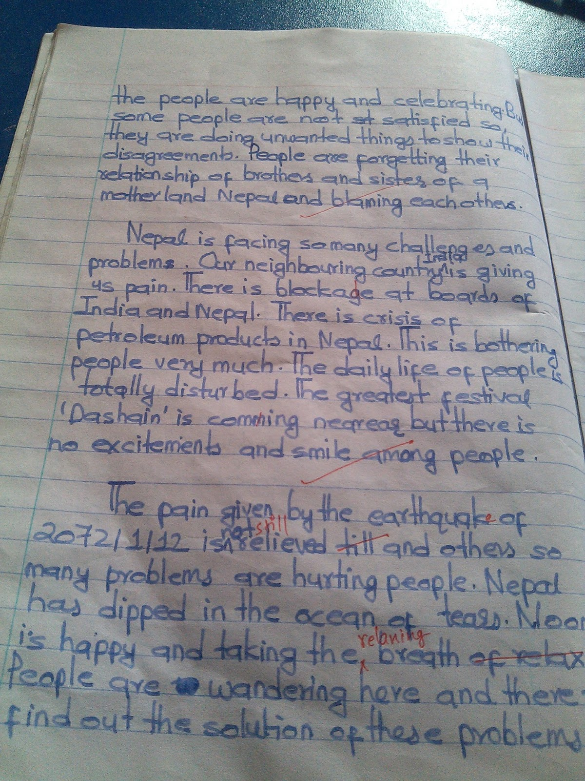 About my holiday essay motherland nepal