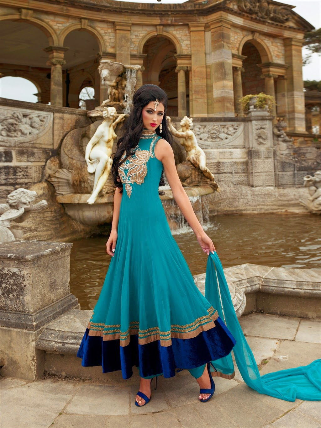 Marvelous 2014 Collection of Wedding Wear Floor Length Anarkali ...