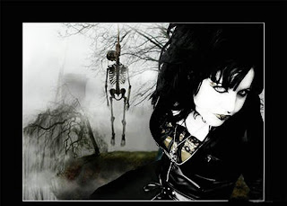 Gothic Girl And Hanged On The Tree Dark Gothic Wallpaper