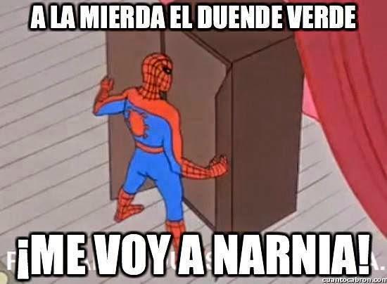 Spiderman se cansó de los villanos duende verde electro rhino, doctor octopus,