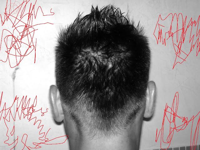 Taglio capelli uomo cresta dietro