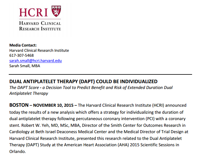 DAPT - American College of Cardiology
