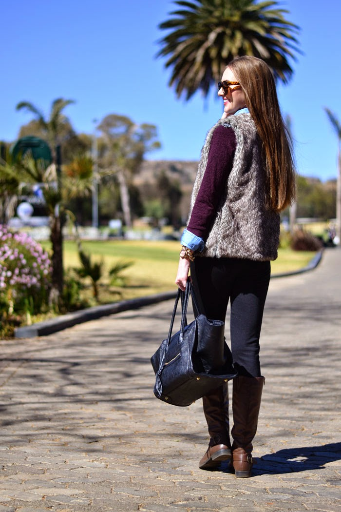 Faux Fur Vest for Fall
