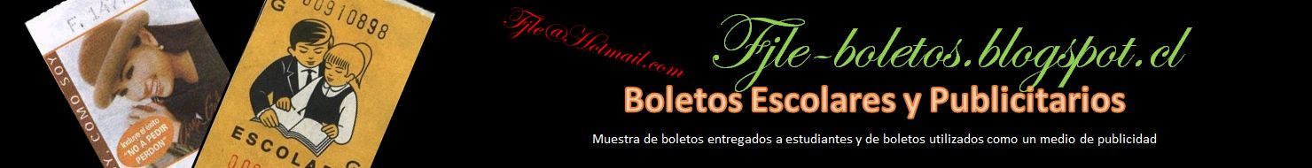 BOLETOS ESCOLARES Y PUBLICIDAD