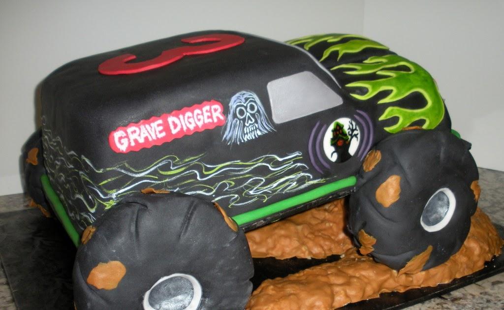 Cakes Birthday Party Monster Truck Cake