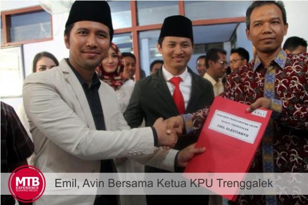 EMIL - AVIN Bersama Ketua KPU Trenggalek