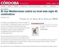 EL MAR MEDITERRÁNEO SUBIRÁ 40 CENTÍMETROS.