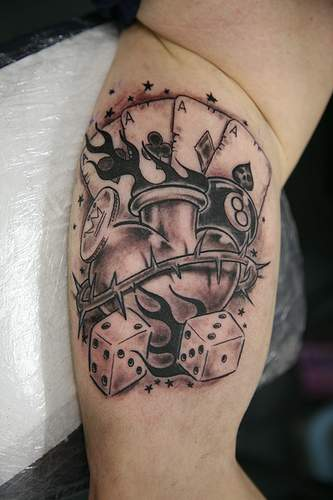 Best tattoos for men playing card tattoos for Card tattoo designs