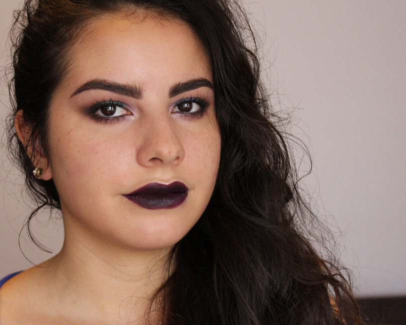 colourpop cosmetics lippie stix feminist vampy purple swatch lipstick nc30 makeup look face