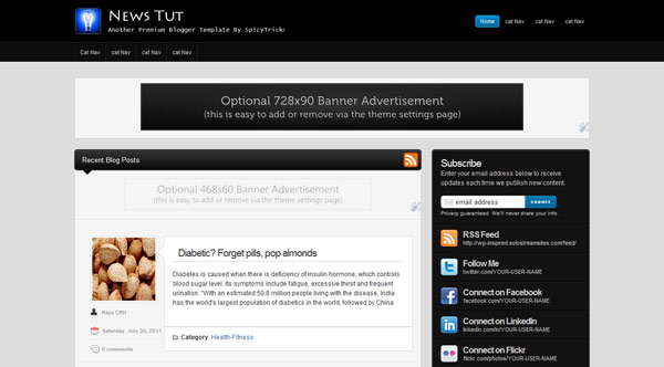 Premium Blogger Template ne 25+ Best Free Magazine Blogger Templates for 2013 Download