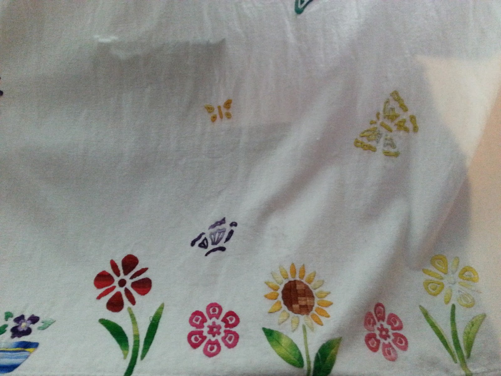 Embroidered curtains little girl room