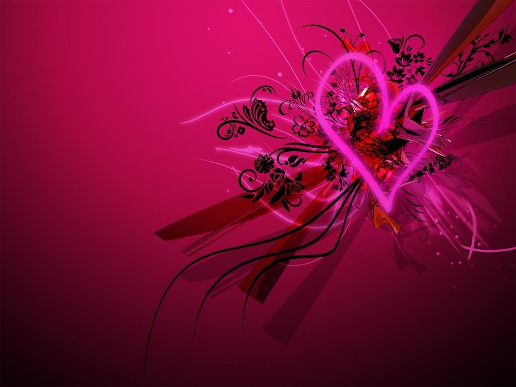 fondos de pantalla de corazones brillantes