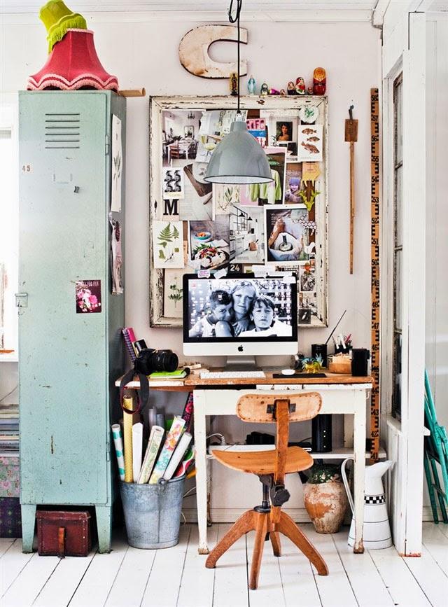 Bureau deco indus vintage