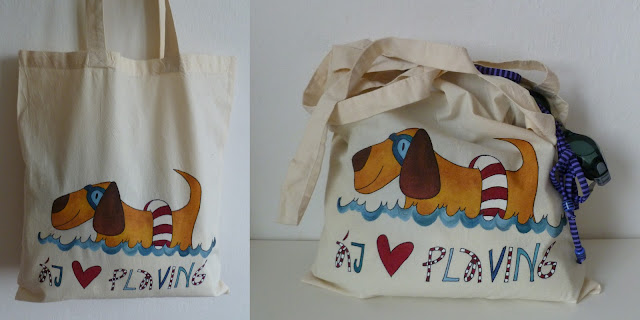 veselá malovaná taška