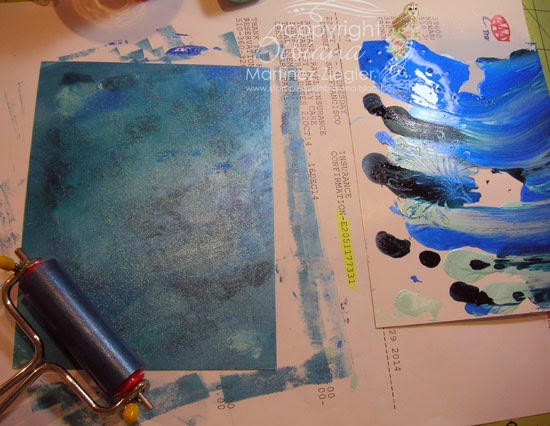 mica-gloss ink card step 3