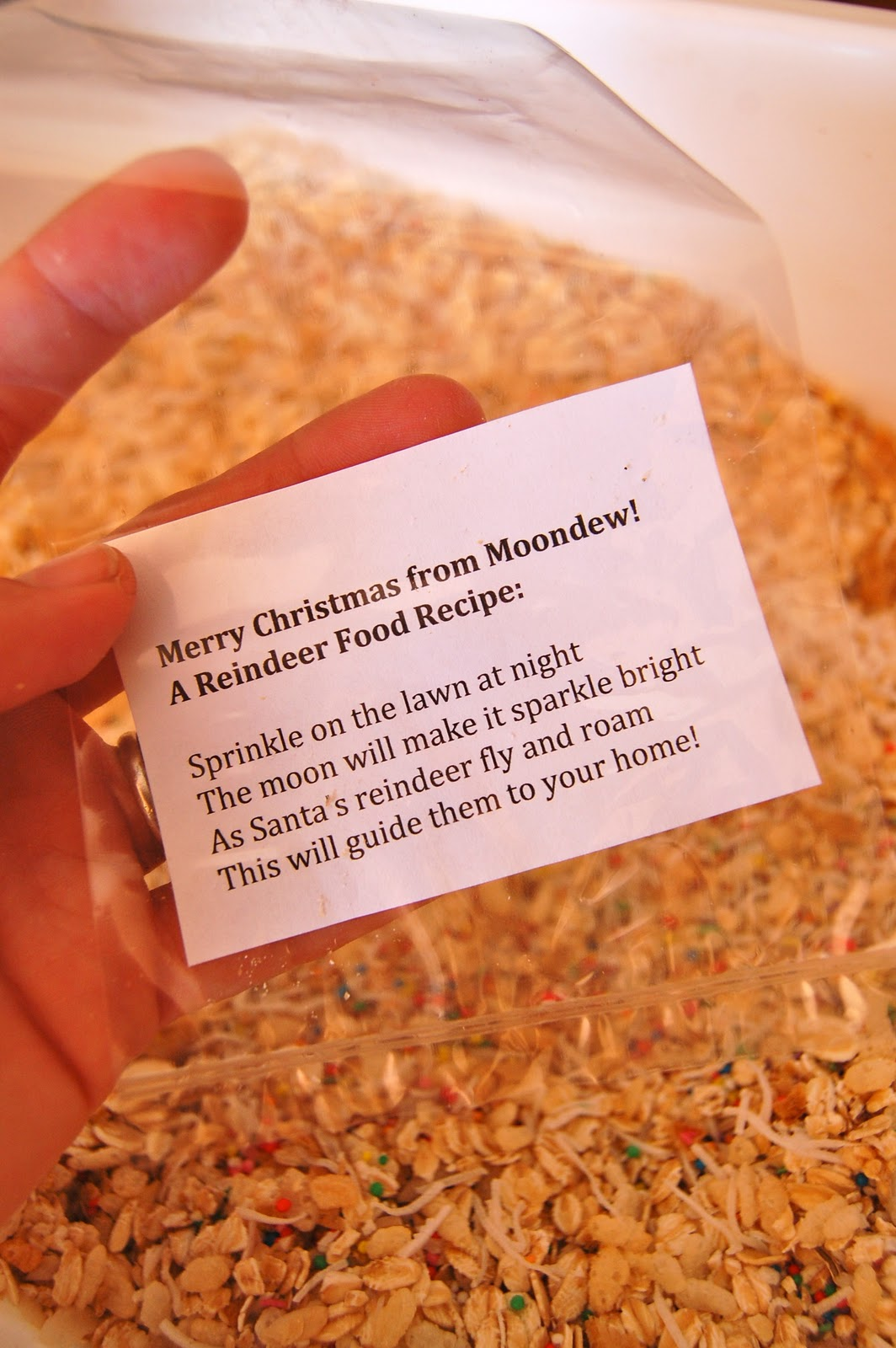 Reindeer food recipe for christmas eve preparation give it a good stir forumfinder Gallery