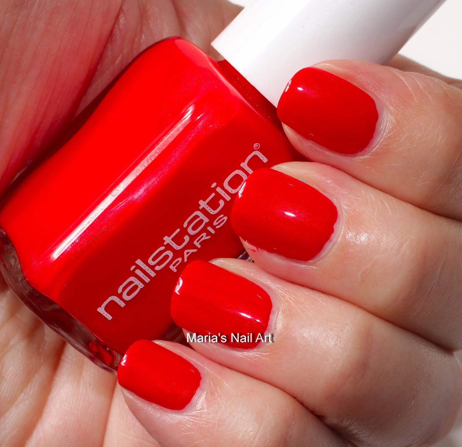Marias Nail Art And Polish Blog: Nailstation Swatches: Red