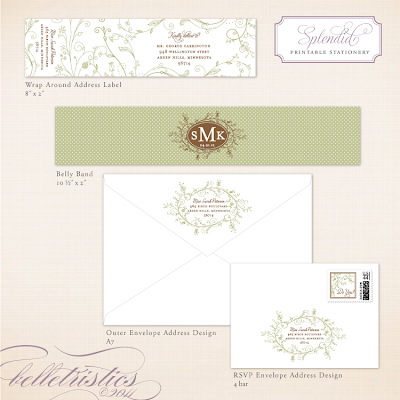 spring floral green wedding invitation suite printable diy