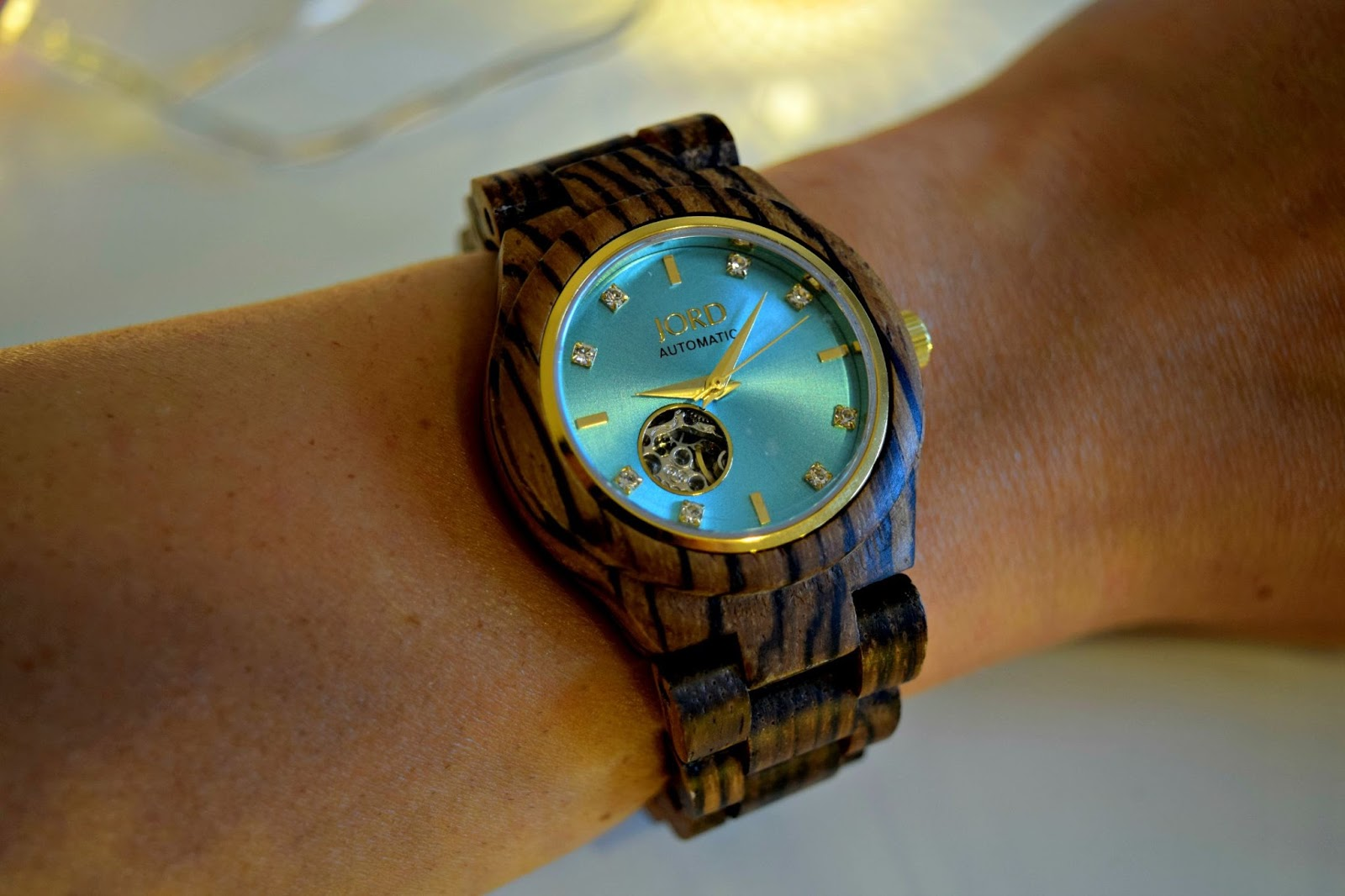Zebrawood and Turquoise Watch Jord