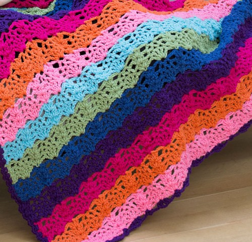 Rainbow View Throw - Free Pattern