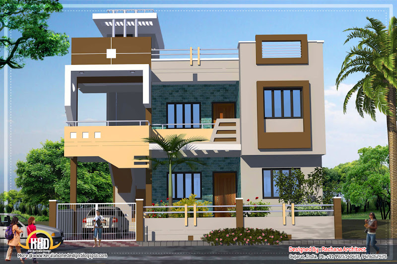 Contemporary India house plan - 2185 Sq.Ft. title=
