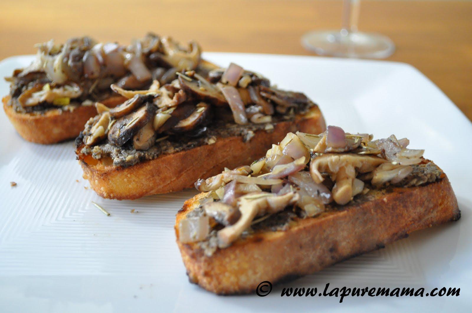 Mushroom Crostini