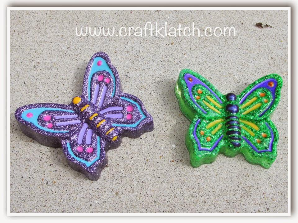 Craft Klatch R DIY Glitter Resin Butterflies How To Butterfly