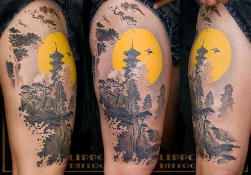 Japanese Flower Tattoo / Japanese Arm Tattoo/ Japanese Tattoo