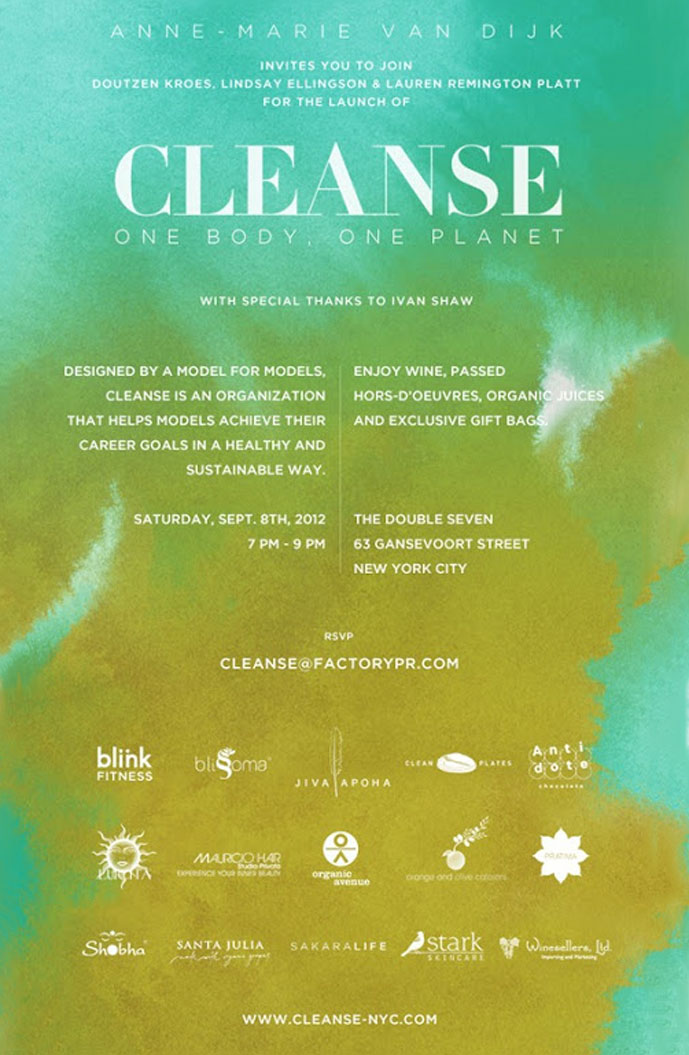 Cleanse NYC official launch | invitation | Anne-Marie van Dijk