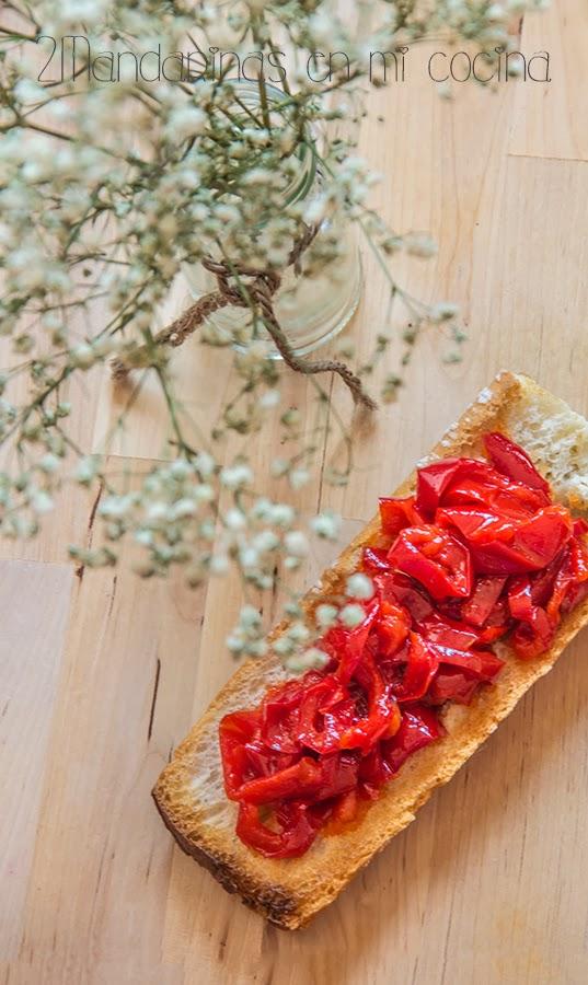 Pimientos rojos confitados